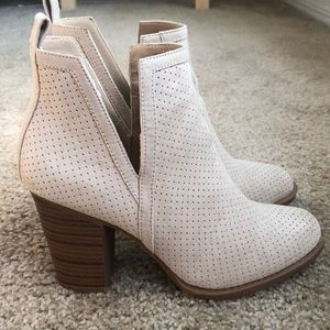 Suede Cream Booties